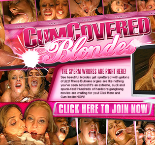 Great blondes porn website for facial videos