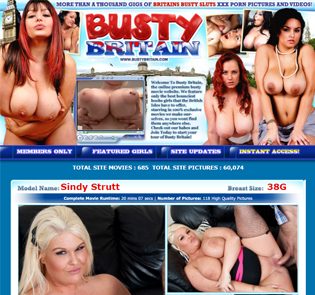 Great British adult site for big boobs lovers