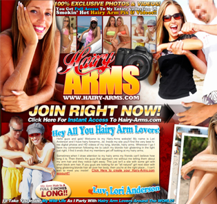 Popular bizarre porn website for hairy arms lovers