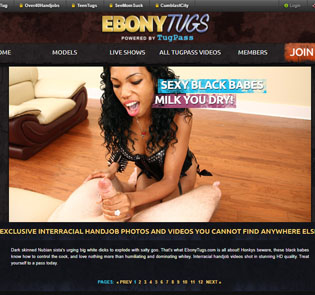 Great handjob porn paysite where you can find sexy ebony girls